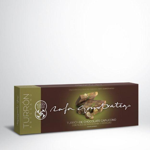 Nougat mit Cappuccino-Kaffeegeschmack - Produktbild mit Verpackung