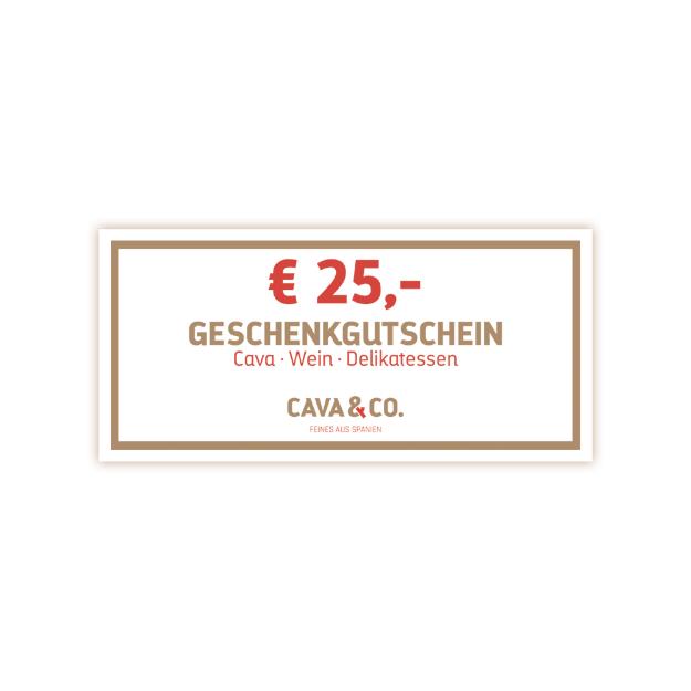 € 25,- Geschenkgutschein