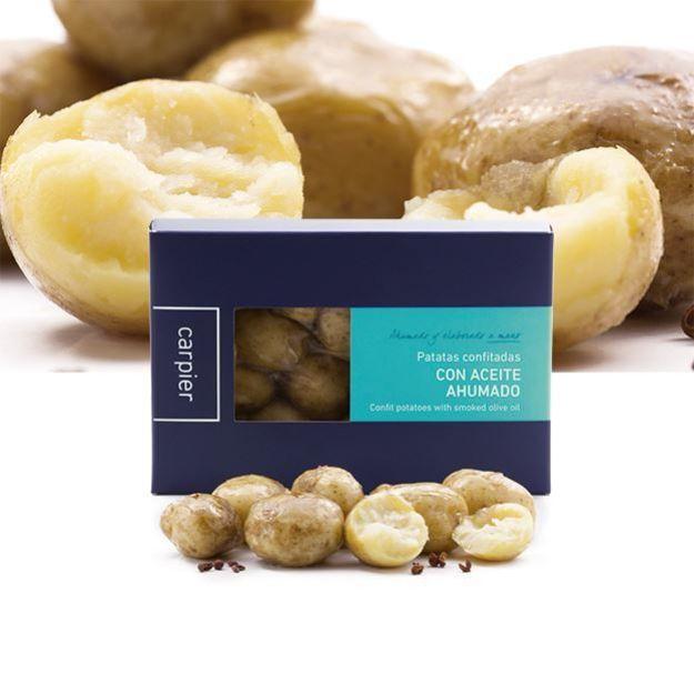 Konfierte Kartoffeln mit geräuchertem Öl von Carpier