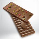 Schokolade 45% mit Pistazien und Stevia von Rafa Gorrotxategi