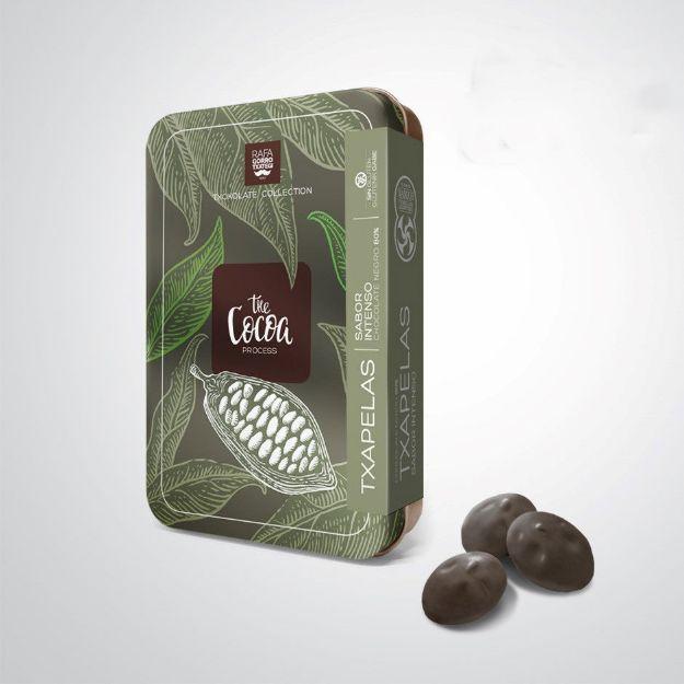 Txapelas aus dunkler Schokolade von Rafa Gorrotxategi