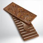 Milchschokolade 42% mit Tejas de Almendra von Rafa Gorrotxategi