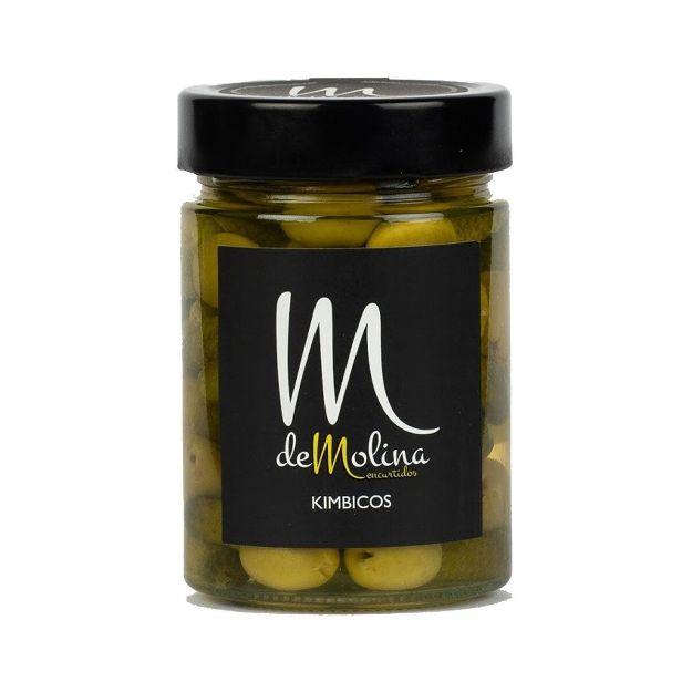 Kimbicos - mit Essiggurken gefüllte, grüne Oliven