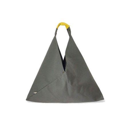 Grey Bag handgefertigte Baumwolltasche von ISOL Barcelona